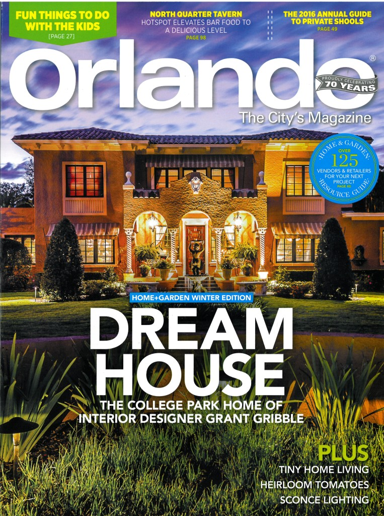 Gribble Interior Group Featured on Orlando Magazine Cover