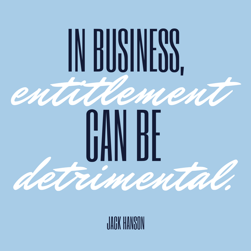 Entitlement in Business