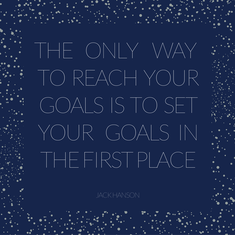Setting Goals in the New Year