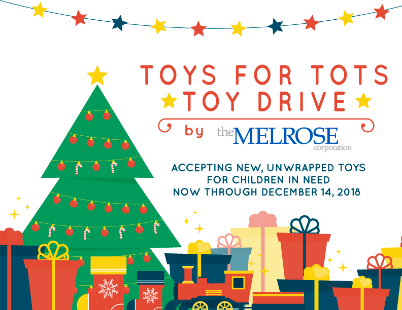 Toys For Tots Toy Drive at Melrose Offices