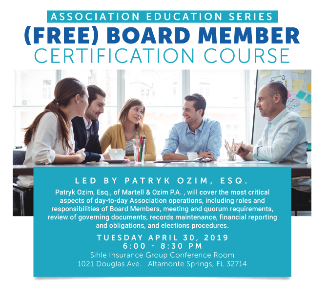 FREE Board Member Certification Course Sponsored by Melrose