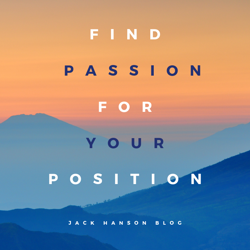Finding Passion in Your Work